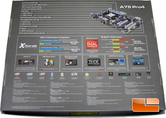 ASRock A75 Pro4 AMD APU Motherboard Retail Packaging