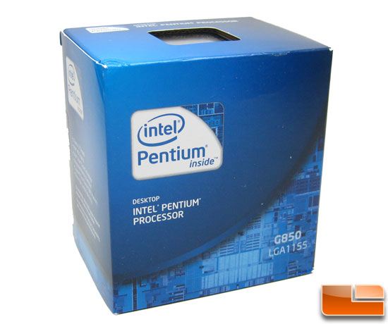 Intel Pentum G850 Retail Box Processor
