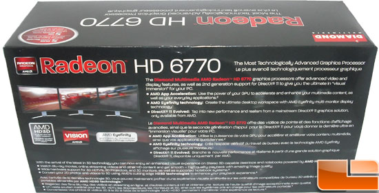 Diamond Radeon HD 6770 XOC Video Card Box Back