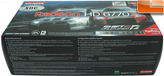 Diamond Radeon HD 6770 XOC Video Card Box Bottom