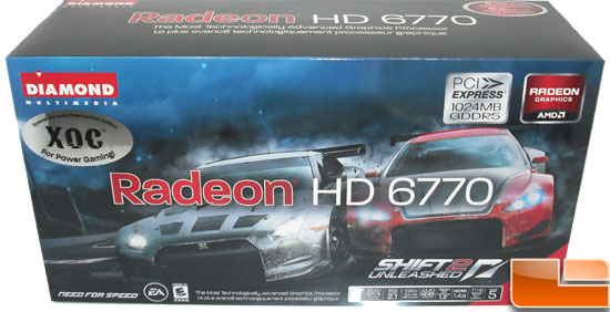 Diamond Radeon HD 6770 XOC Video Card Box Front