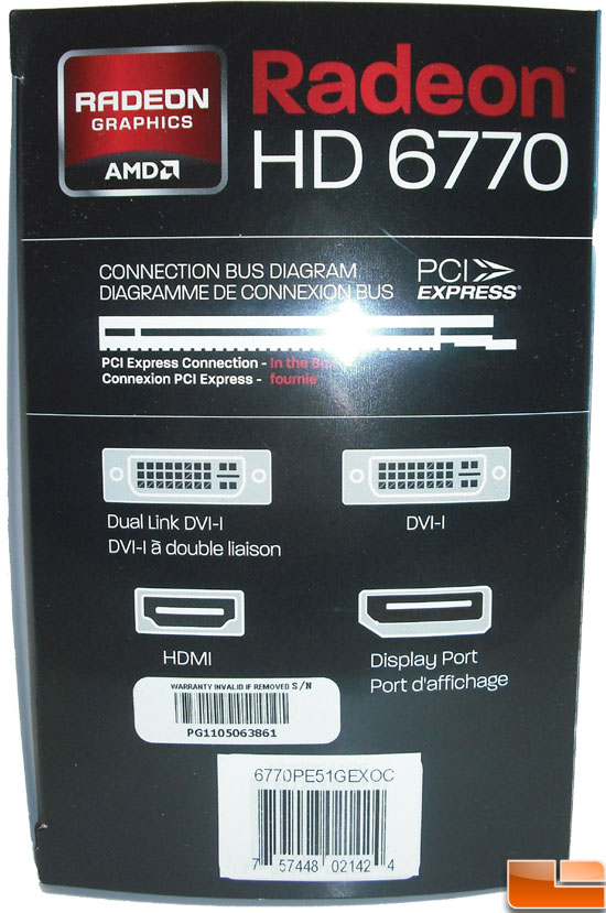 Diamond Radeon HD 6770 XOC Video Card Box Side