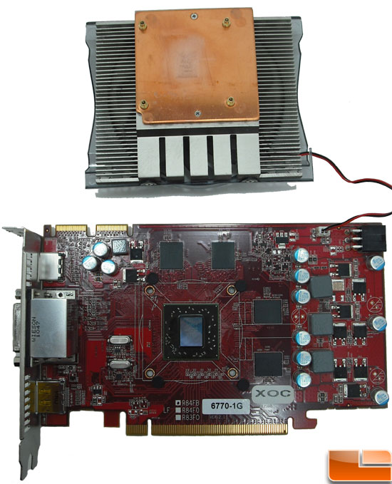 Diamond Radeon HD 6770 XOC Video Card GPU And Cooler