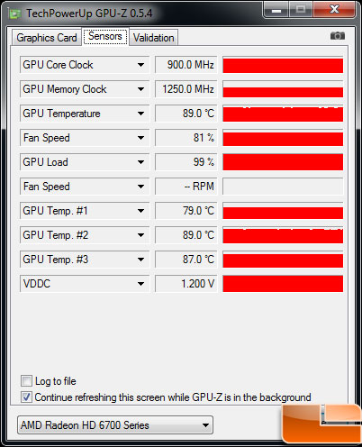 Diamond Radeon HD 6770 XOC Video Card Load Temp