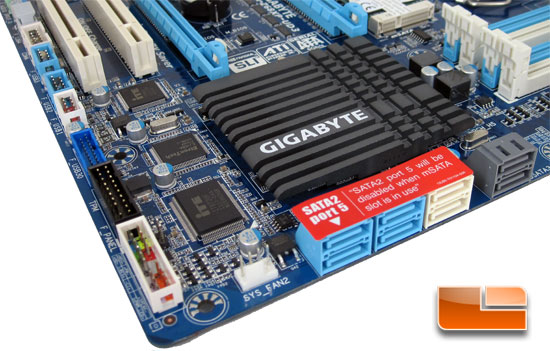 GIGABYTE Z68Xp-UD3-iSSD Motherboard Layout