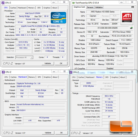 GIGABYTE Z68XP-UD3-iSSD Motherboard System Settings