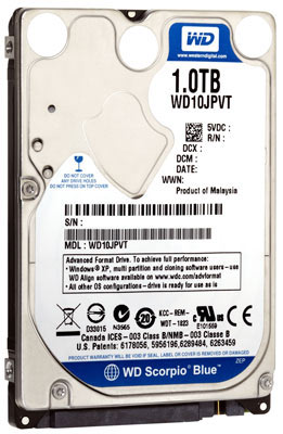 Western Digital Scorpio Blue 1TB Hard Drive
