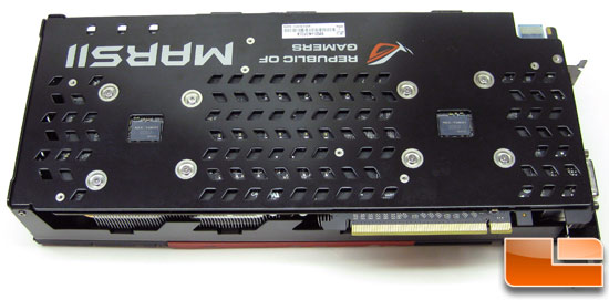 ASUS ROG MARS 2 Video Card Backplate
