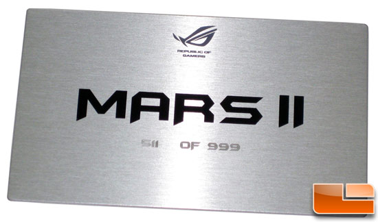 ASUS ROG MARS 2 Limited Edition Number Plate