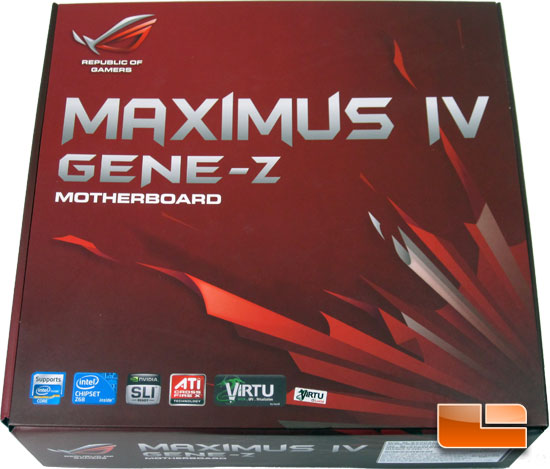 ASUS Maximus IV Gene-Z Intel Z68 Micro ATX Motherboard Retail Packaging