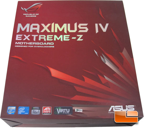 ASUS Maximus IV Extreme-Z Intel Z68 Motherboard Retail Packaging