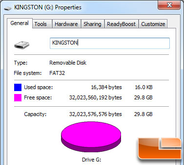 Kingston DataTraveler ultimate Gen 2 32GB Actual Capacity