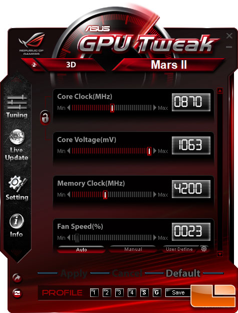 ASUS MARS 2 Video Card Overclocked