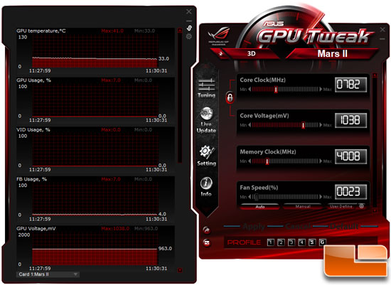ASUS MARS 2 Video Card GPU Tweak
