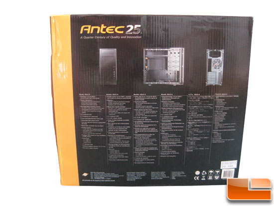 Antec Solo II box back
