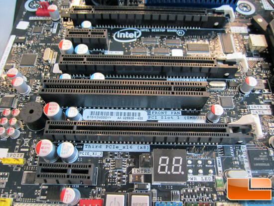 Intel DX79SI Motherboard PCI Slots