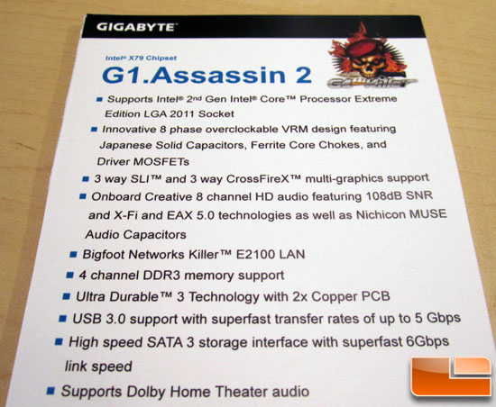 GIGABYTE G1.ASSASSIN X79 Motherboard Preview