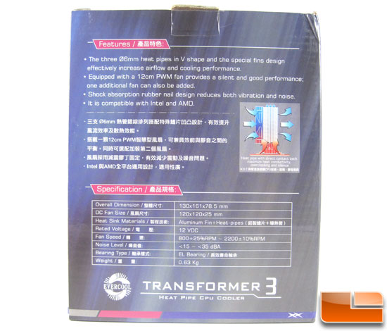 Evercool Transformer 3 CPU Cooler back of box