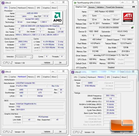ASUS F1A75-M Pro Motherboard System Settings
