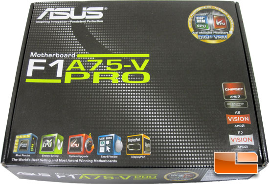 ASUS F1A75-V Pro Motherboard Retail Packaging