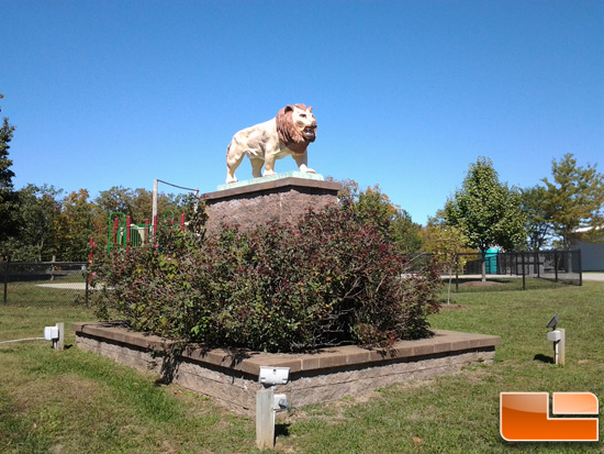 Samsung Galaxy Tab Picture of Lion Statue