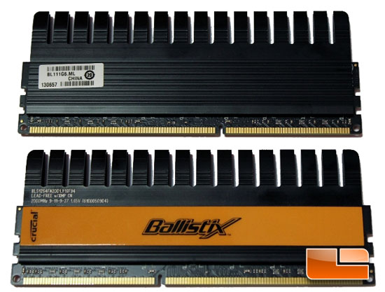 Crucial Ballistix memory modules