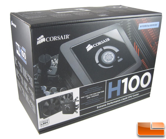 Corsair Hydro Series H100 box art