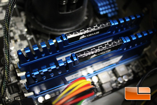 Corsair Vengeance memory installed