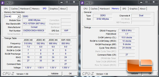 CPUz memory overclocked settings 2