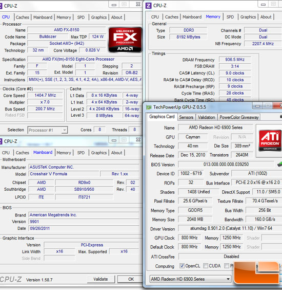 Intel Z68 Test Settings