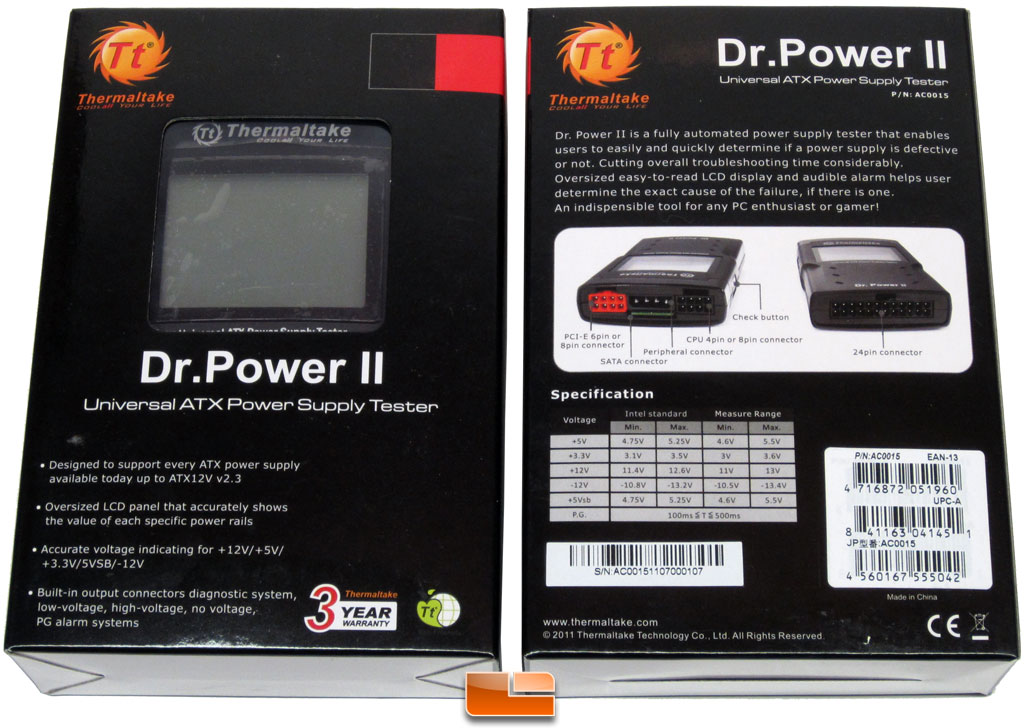 Thermaltake Dr. Power II ATX Power Supply Tester Review - Legit ...