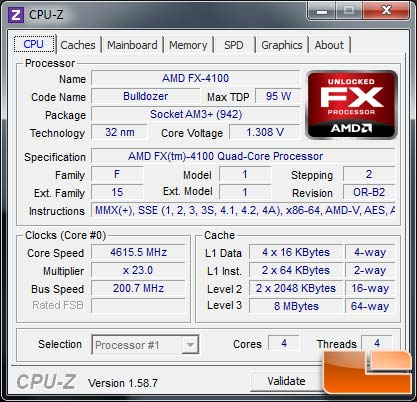 AMD FX-4100 Bulldozer Processor Overclock