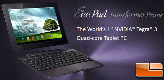 ASUS Eee Pad Transformer Prime Tablet Sneak Peak