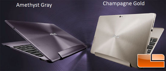 ASUS Transformer Prime Tablet Colors