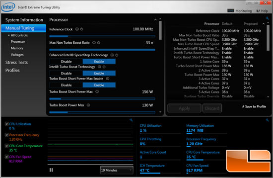 Intel Core i7-3960X Processor Temperature at Idle