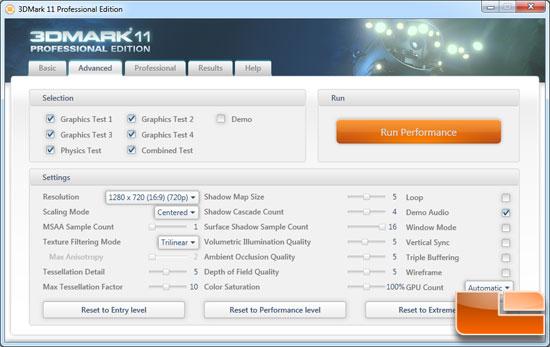 Futuremark 3DMark 11 Benchmark