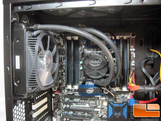 Intel RTS2011LC Water Cooler installed push method