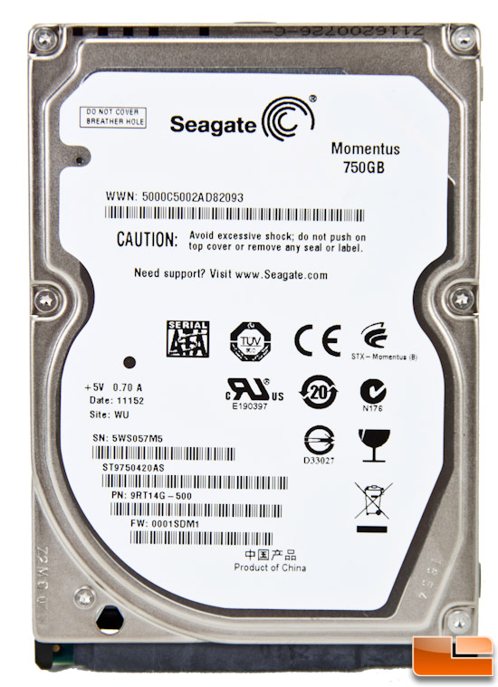 Seagate Momentus 7200.5 750GB Hard Drive Review (ST9750420AS)