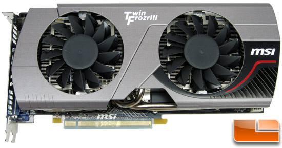 MSI N560GTX-448 Twin Frozr III Video Card Front