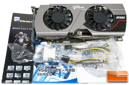 MSI N560GTX-448 video card Retail Bundle