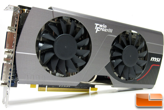 MSI N560GTX-448 Twin Frozr III Video Card Fan