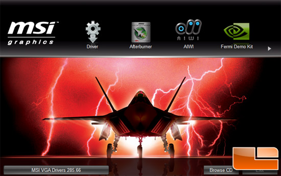 MSI N560GTX-448 video card Software