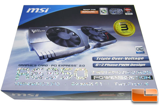 MSI R6950 Twin Frozr III 1G/OC video card Video Card Retail Box Front