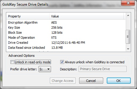 Goldkey Encryption