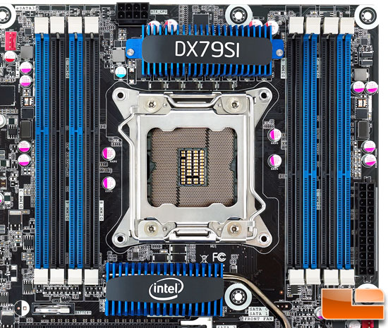Intel LGA2011 CPU Cooler Roundup - x79 board layout