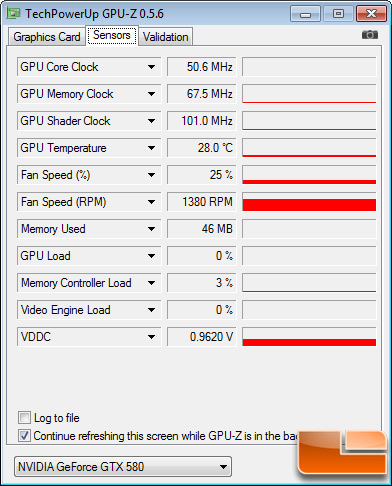 EVGA GeForce GTX 580 Classified 3072MB Test Settings
