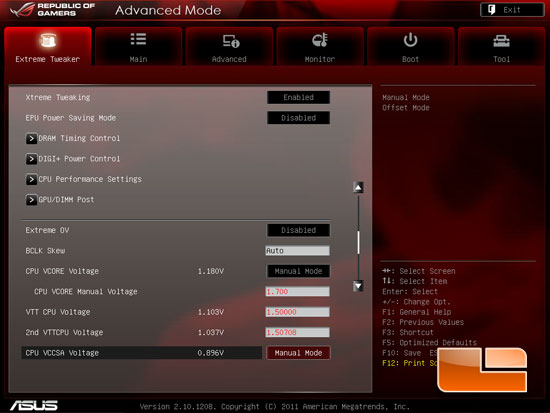 ASUS Republic of Gamers Rampage IV Extreme Intel X79 UEFI BIOS