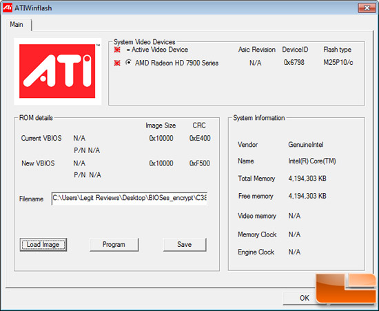 AMD OverDrive Radeon HD 7970 BIOS Winflash