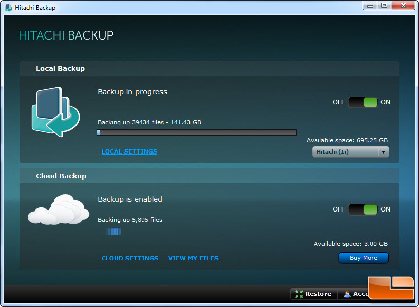 Hitachi backup software