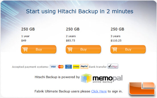 purchase backup space